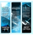 Set of beautiful abstract triangle based banners vector image vector image