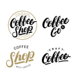 Set of coffee hand written lettering logos labels vector image vector image