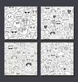 set various faces people human vector image vector image