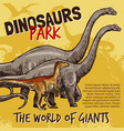 sketch of dinosaurs park poster vector image vector image