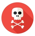 Skull with Bones Circle Icon vector image vector image