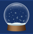 snowglobe icon realistic style vector image