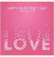 St Valentines day greeting card in flat style Word vector image