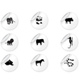 Stickers with animal icons 3 vector | Price: 1 Credit (USD $1)