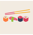 Sushi and sashimi seafood cuisine vector image vector image