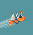 teamwork business concept success achievement vector image