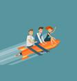 teamwork business concept success achievement vector image vector image
