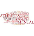 the benefits of sports psychology for athletes vector image vector image