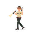 town male sheriff police officer character in vector image vector image