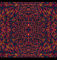 vibrant colorful psychedelic trippy mandala vector image vector image