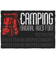 vintage label typeface named camping vector image