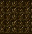 wallpaper golden leaves on a black background vector image
