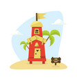 wooden tropical bungalow house on beach for rent vector image vector image