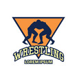 wrestling logo with text space for your slogan vector image vector image