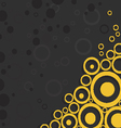 yellow circles on black background vector image vector image