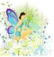 young butterfly vector image