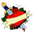 heart tatoo vector image
