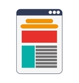 website template icon vector image