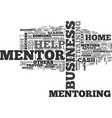 a home business mentor can help you earn big vector image vector image