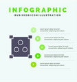 abstract design online solid icon infographics 5 vector image vector image