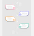 abstract timeline infographic background vector image vector image