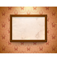 Aged frame on the wall vector image vector image