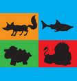animation silhouette of animals vector image vector image