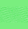 background of waves and water drops vector image vector image
