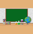 border template with science equipments vector image vector image