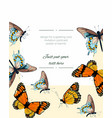 botanical wedding invitation with butterfly vector image