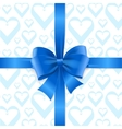 Bow Background Heart vector image vector image