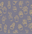 cactus background seamless pattern vector image vector image
