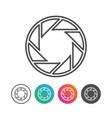 camera shutter outline icon symbol design set vector image vector image