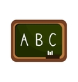 Cartoon board chalkboard alphabet isolated