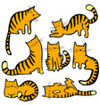 cute cats set pretty kitty collection childish vector image