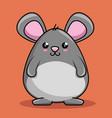 cute mouse character kawaii style vector image vector image