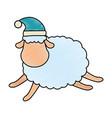 cute sheep character icon vector image vector image