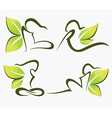 ecological girl collection vector image vector image