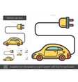 Electric car line icon vector image vector image