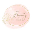 elegant feminine logo design in pink and gold vector image