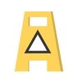 empty wet floor warning advert careful vector image
