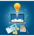 finance your ideas get funding to launch start-up vector image vector image