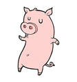 funny comic cartoon pig vector image vector image