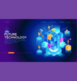 future technology web banner vector image vector image