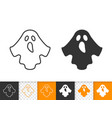ghost simple black line and glyph icon vector image
