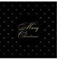 Golden Christmas pattern vector image vector image