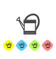 grey line watering can icon isolated on white vector image vector image