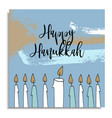 Hanukkah greeting card with hand drawn candles