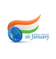 happy indian republic day celebration 3d ashoka vector image