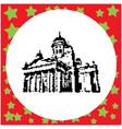 helsinki cathedral black 8-bit vector image vector image